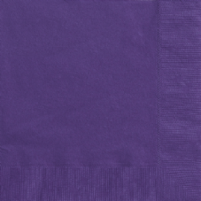 20 Purple Paper Party Luncheon Napkins